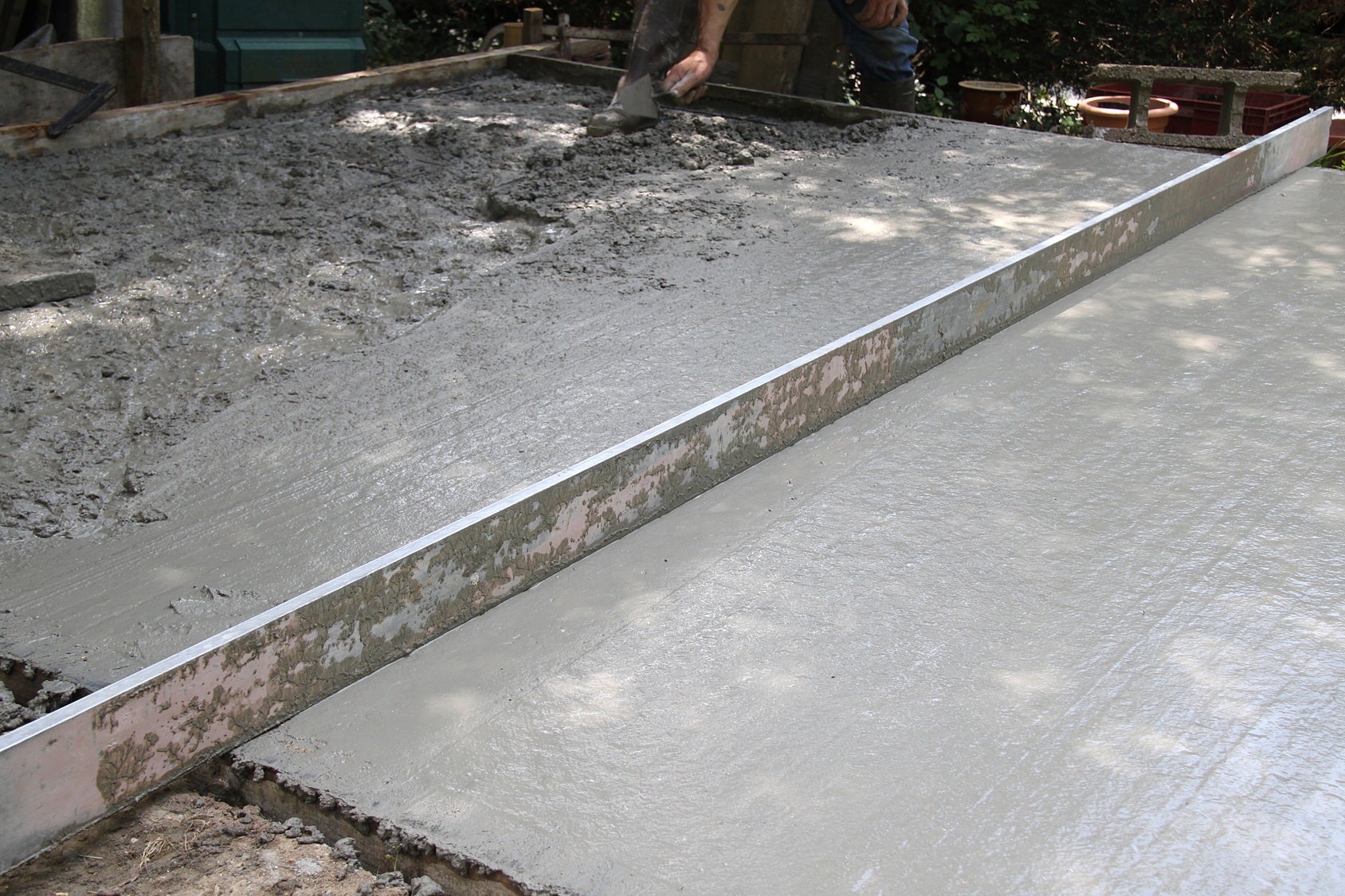 Chape de mortier for Pose carrelage exterieur sur dalle beton